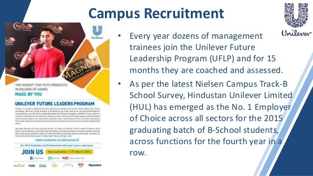 recruitment process explained with hul as an example