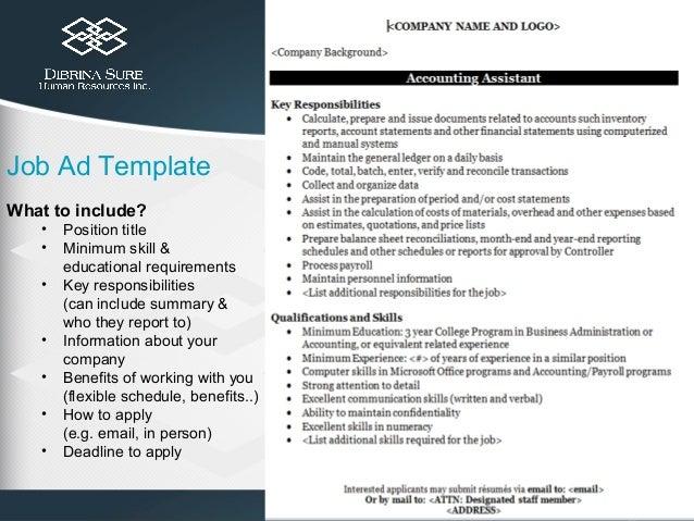 job ad templates | template