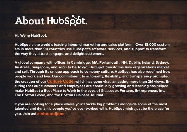 EMEA Recruiting: Opportunities at HubSpot Slide 3