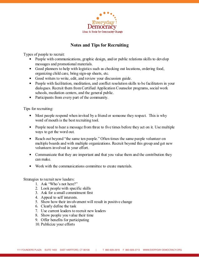 Recruitment Strategy Worksheets – Respect Worksheets