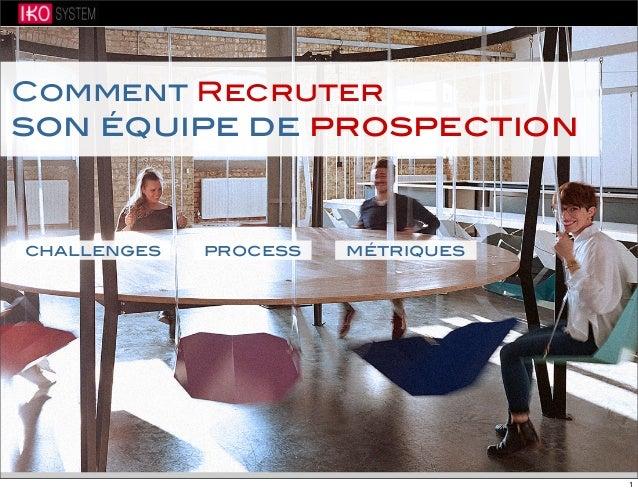 Comment Recruter son équipe de prospection challenges process métriques 1