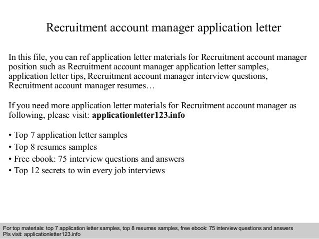 application letter for recruitment position 100 original