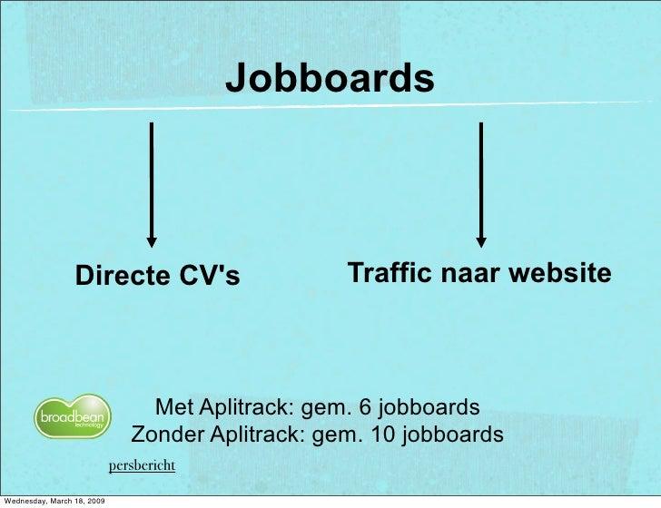 Jobboards                                                       Traffic naar website                  Directe CV's        ...