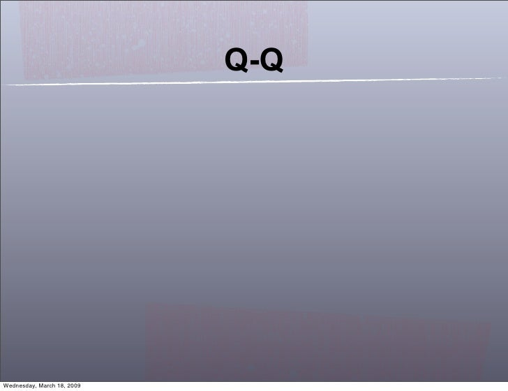 Q-Q     Wednesday, March 18, 2009