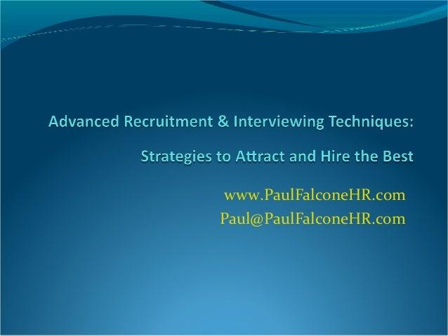 www.PaulFalconeHR.com Paul@PaulFalconeHR.com