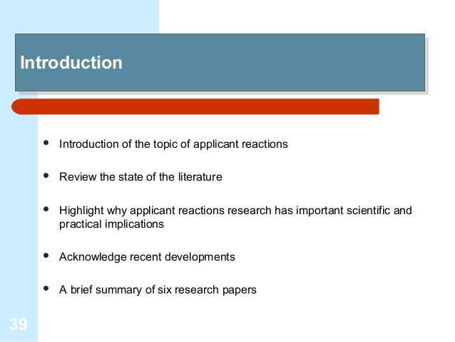 literature review on recruitment and selection process Recruitment and selection (international staffing):  recruitment & selection is the process that interlinked the hr and  review of literatures on the selection .