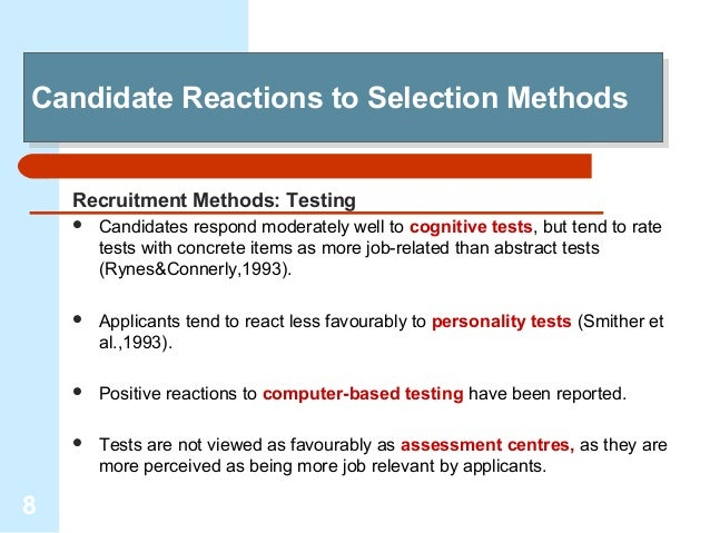 research methodology on recruitment and selection After a short-listing process, interviews are very widely used in the selection process, as demonstrated by our successive surveys of recruitment practices interviews can be structured in a number of ways, with the most popular method following contents of cvs and application form, according to our latest resourcing and talent planning survey.