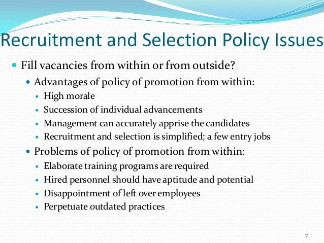 strategic issues in recruitment and selection Recruitment and retention are the key business strategy aspects for any company   key in reducing the issues that the social services sector is currently facing in   candidate: the pre-selection process and assessment of selected candidates.