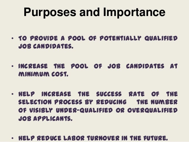 The Importance of the Recruitment & Selection Process