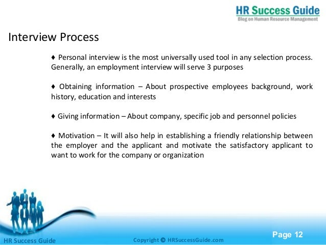 Recruitment and selection free powerpoint templates page 12 interview toneelgroepblik Choice Image