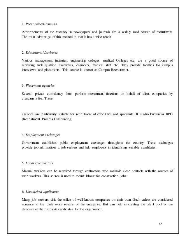 Recruitment and selection in mahindra & mahindra111111111111111111