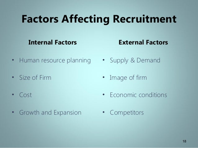 The factors affecting recruitment