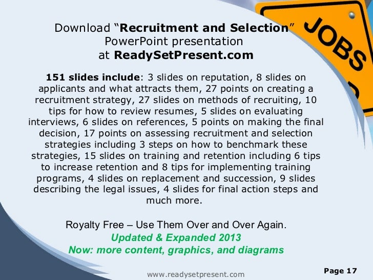 recruitment and selecion Understand and differentiate between strategic recruitment and selection identify the dual goals of recruiting comprehend recruitment process from organizat.