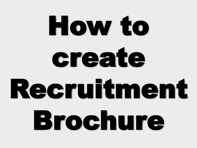 hr recruitment brochure sample