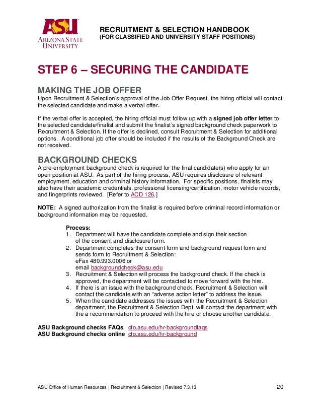 Recruitment handbook