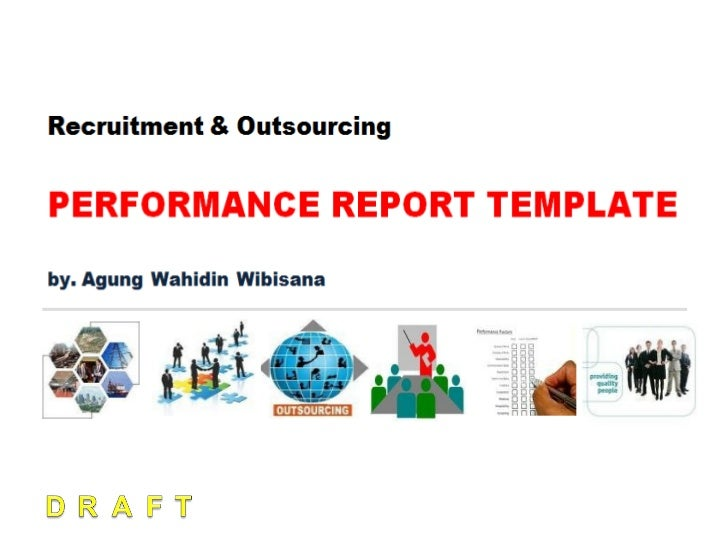 Recruitment  Outsourcing Performance Report Template
