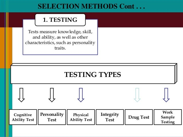 An examination of the decision on the use of personality testing in an organization