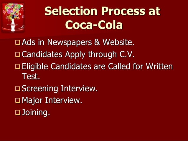 coca cola motivation process Humans are motivated to satisfy five basic needs  or autonomy to define his  own processes for meeting organizational objectives.