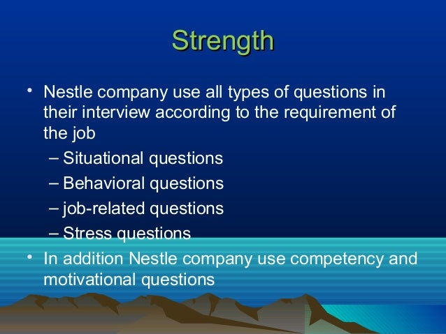 recruitment process of nestle