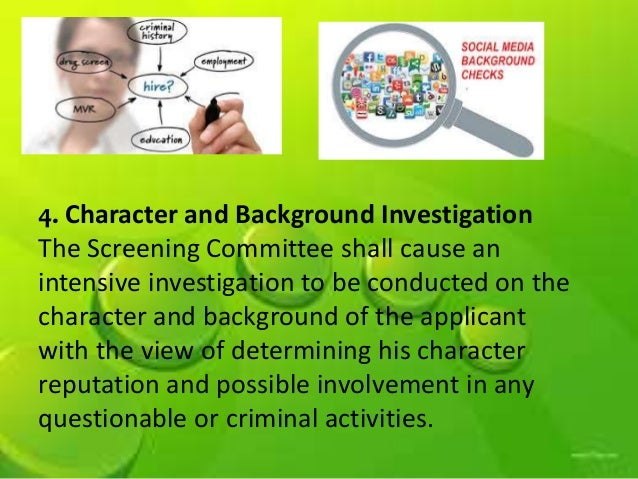 an analysis of a background character investigation Behavioral analysis unit-2  ethnic background, age of the victim, or other specific preferences the offender determines  ix media issues in serial murder investigations serial murder .