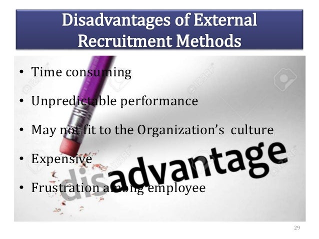 • Time consuming • Unpredictable performance • May not fit to the Organization's culture • Expensive • Frustration among e...