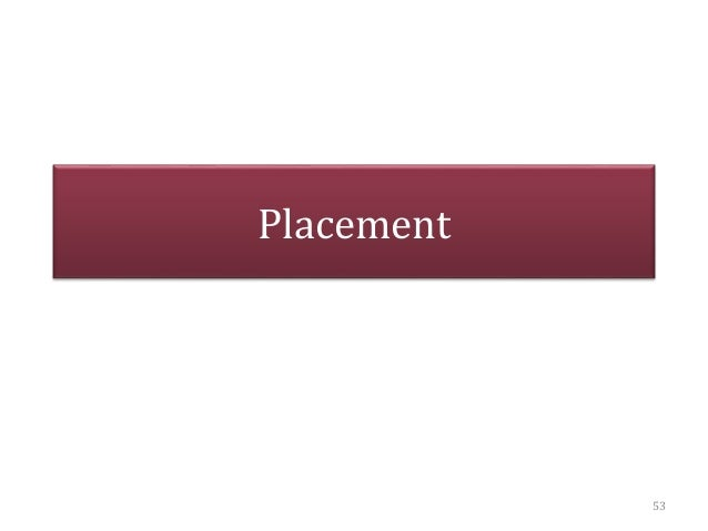 Placement 53