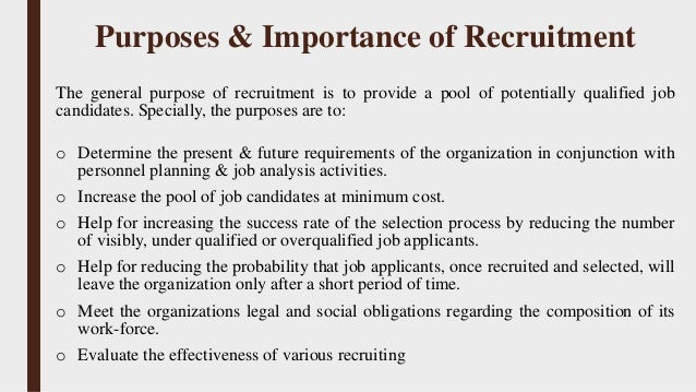 he importance of recruiting and selecting Talent acquisition and talent management refer to the life cycle of recruiting qualified applicants, selecting candidates deemed  hr issues: recruiting.
