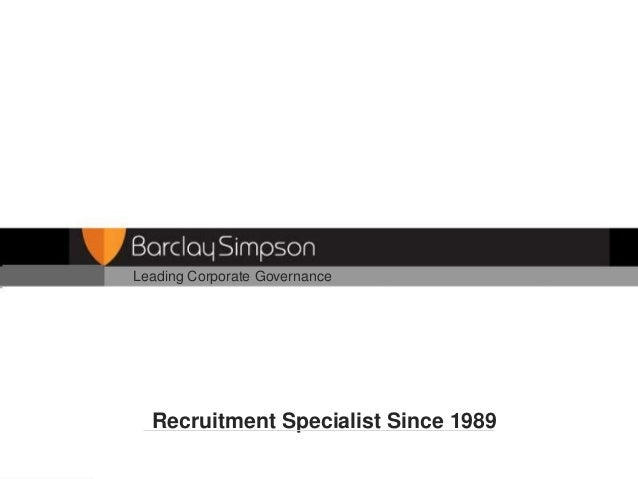 Leading Corporate Governance  Recruitment Specialist Since 1989