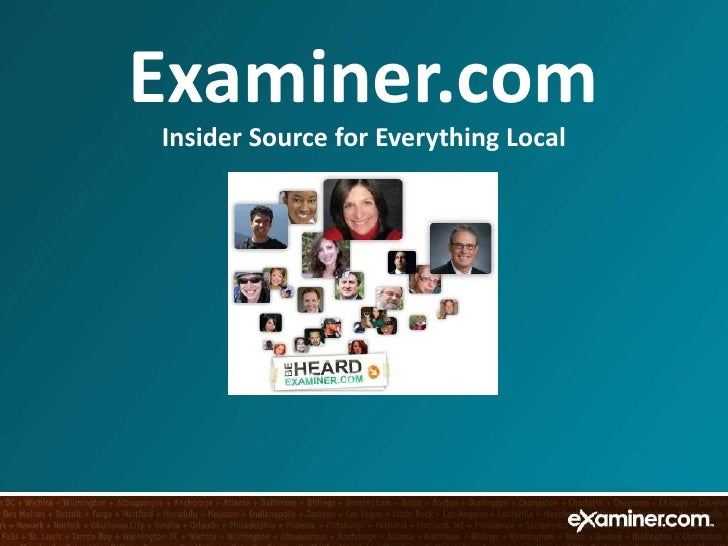 Examiner.com<br />Insider Source for Everything Local<br />