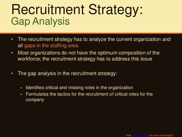 analysis of recruitment in an organisation Comparative analysis of selected policies  recruitment policy of any organization is derived from the personnel policy of the same organization.