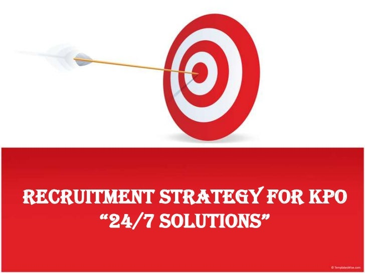"""Recruitment Strategy For KPO       """"24/7 solutions"""""""