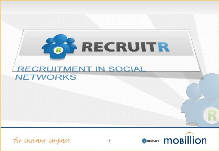 RECRUITMENT IN SOCIAL NETWORKS <br />