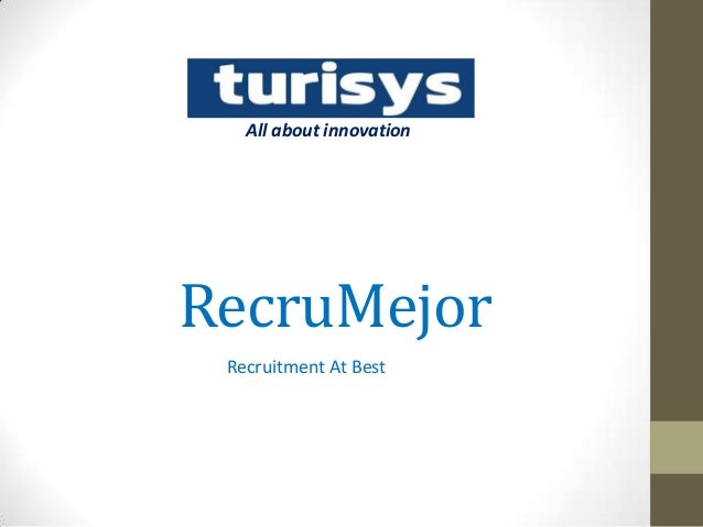 RecruMejor Recruitment At Best All about innovation