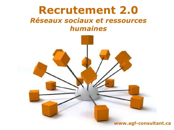 Powerpoint  Templates Recrutement 2.0 Réseaux sociaux et ressources humaines www.agf-consultant.ca