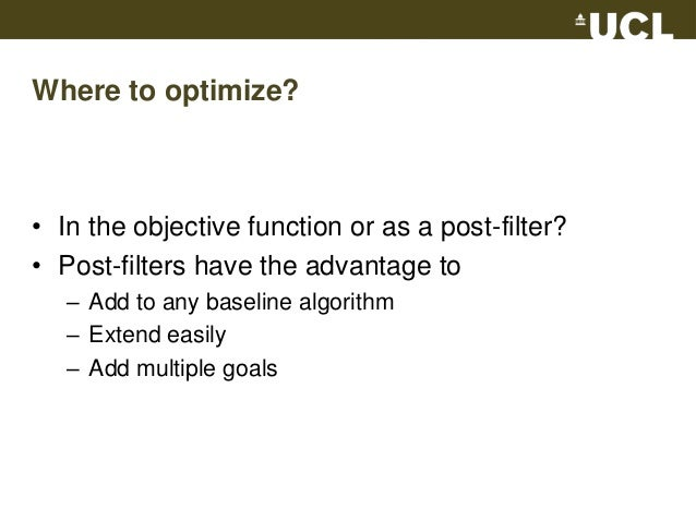 Multiple Objectives In Collaborative Filtering Recsys 2010