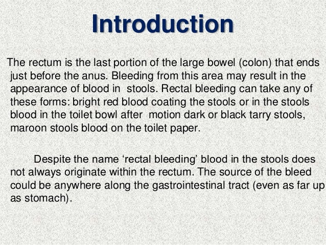 Is anal bleeding genetic