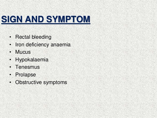 Symptoms of bleeding from anus