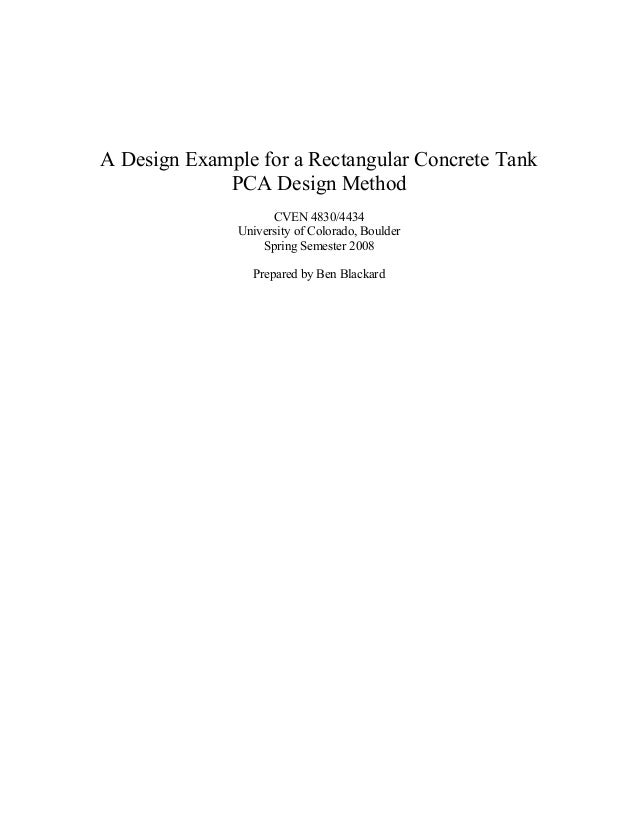 rectangular tank example latest rh slideshare net pca circular concrete tanks design manual pdf Rectangular Concrete Tanks PCA PDF