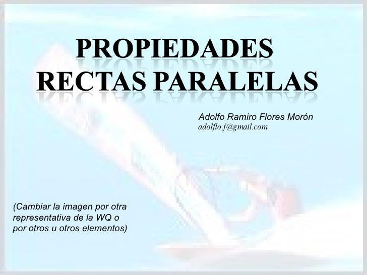 (Cambiar la imagen por otra representativa de la WQ o por otros u otros elementos) Adolfo Ramiro Flores Morón [email_addre...