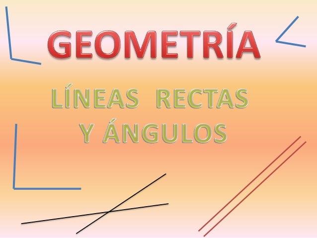 Una línea está formada por infinitos puntos. LÍNEAS