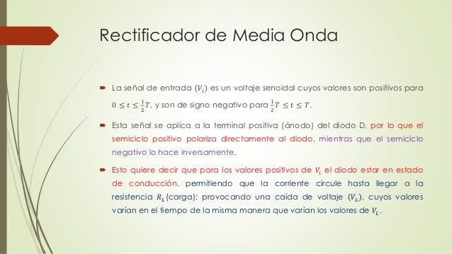 Circuito Rectificador De Media Onda : Rectificador de media onda electronica