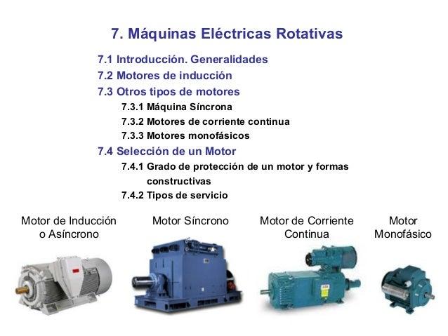 Máquinas Eléctricas Rotativas 7.1 Introducción. Generalidades 7.2 Motores  de inducción 7.3 Otros tipos ... 3da0d85eb26e