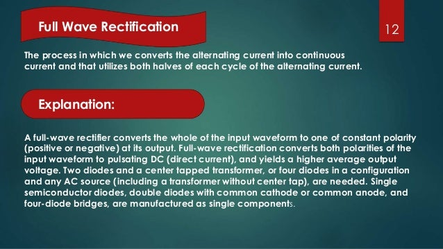 Rectification of diode