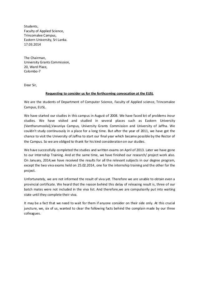 rector letter