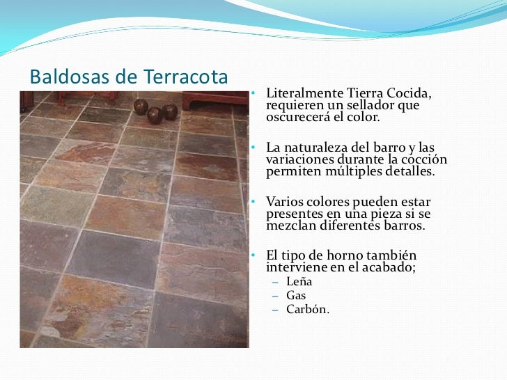 Recubrimiento en areas comunes y de servicio - Baldosas de terracota ...