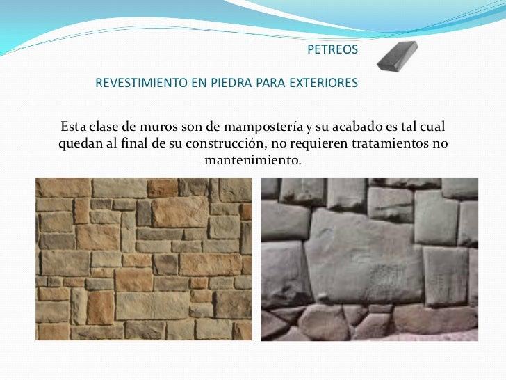 Recubrimiento en areas comunes y de servicio - Recubrimiento de piedra ...