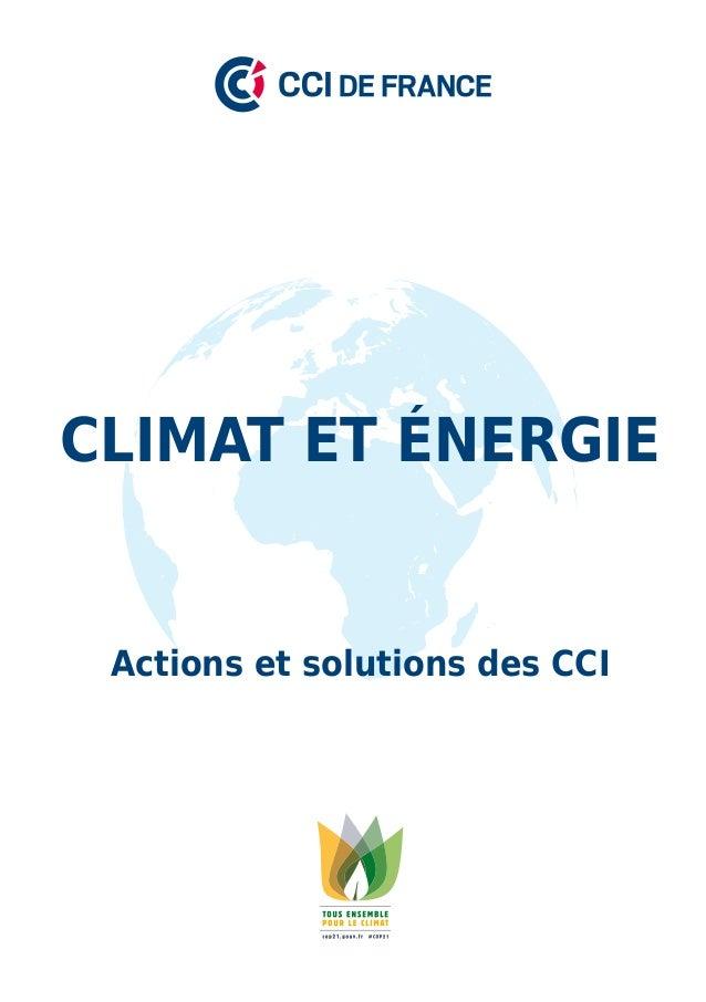1 Actions et solutions des CCI Climat et énergie