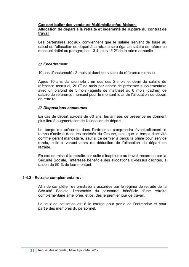 Recueil accord dcf maj mai 2012 - Salaire plafond de la securite sociale ...