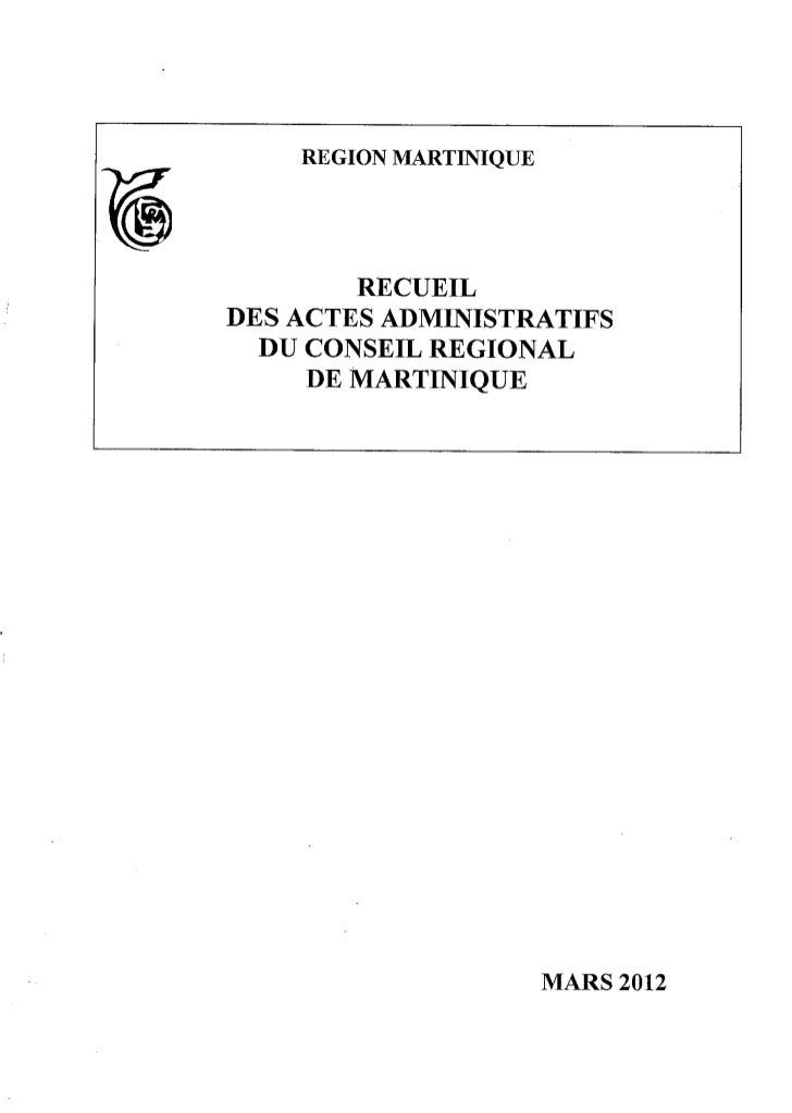 Recueil des actes administratifs mars 2012