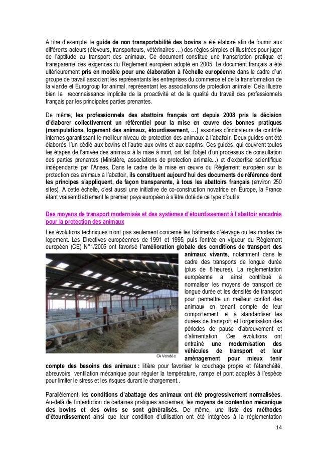 15  (Règlement CE N° 1099/2009) et des procédures ont été formalisées par l'Autorité Européenne de Sécurité Alimentaire (E...